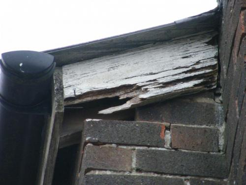 Simple lack of maintenance causes this bargeboard to rot out.
